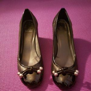Stuart Weitzman Patent Black Heel Size 8.5